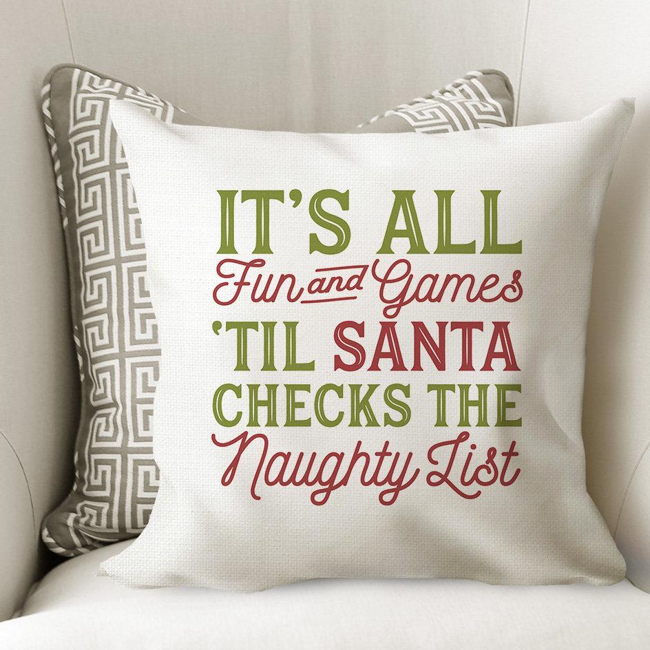 Christmas Pillow Cover - Christmas Decor - Santa Throw ...