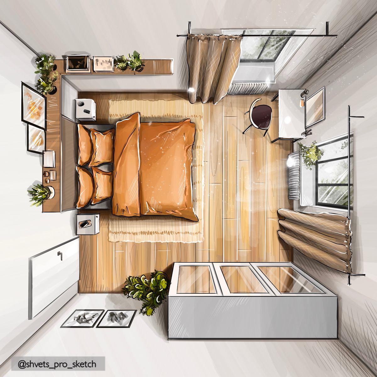 Interior sketch plan