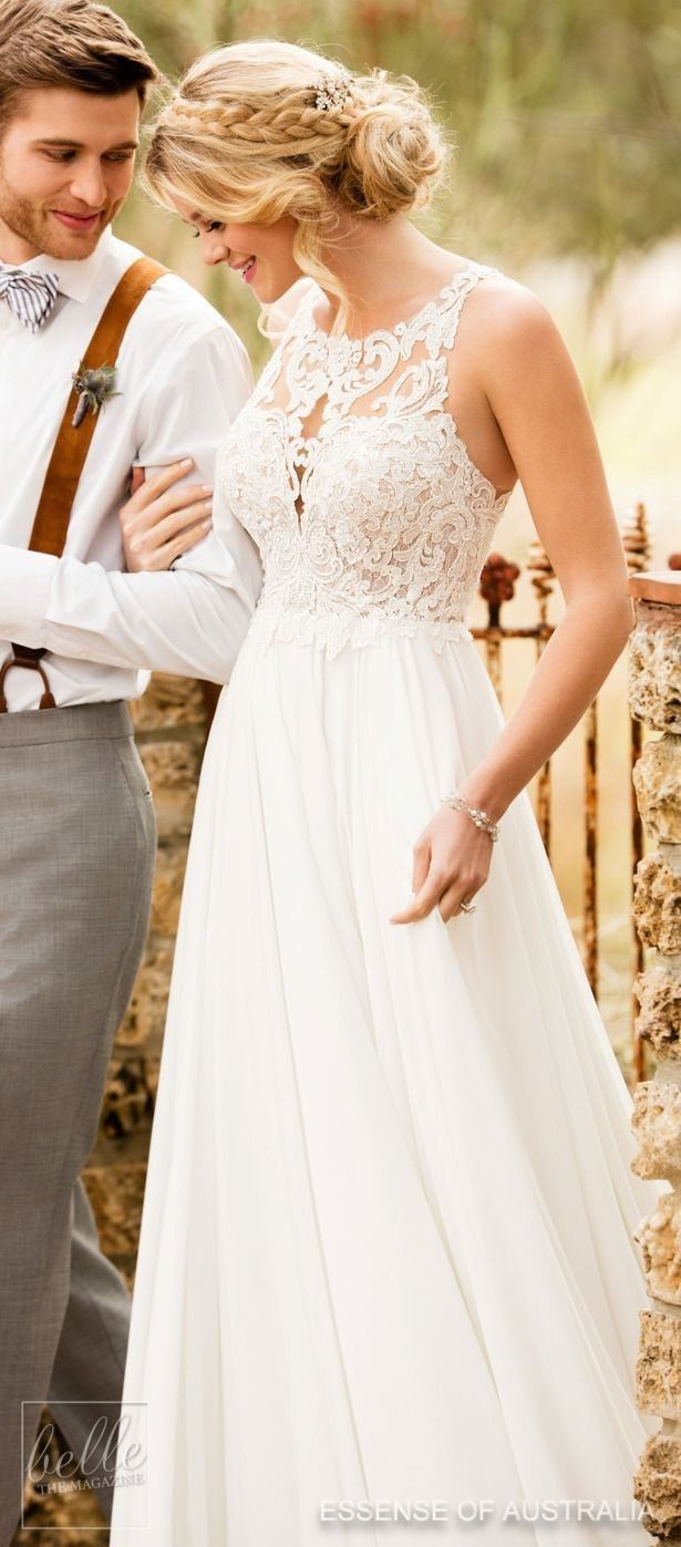 Lace wedding dress v neck november 2018 Wedding Dresses Lace Search for your perfect wedding outfit from