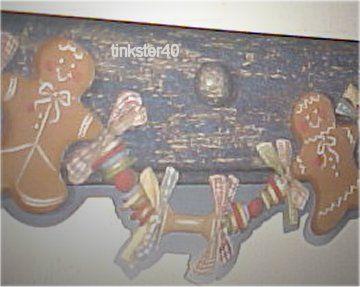 gingerbread+man+wallpaper+border | Details about GINGERBREAD MEN lazerCUT Designer WALLPAPER Border Blue