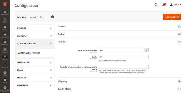 Magento 2 Extensie, Aangepaste order nummering, Bepaal de nummering voor facturen, verzendlabels en kredietnota's