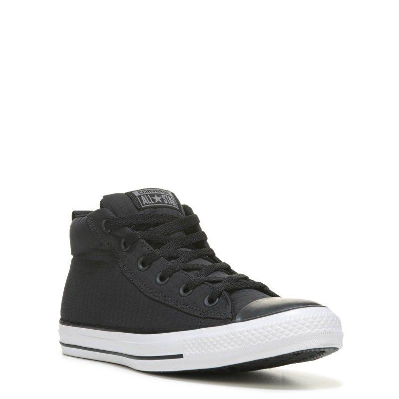 004b39c91924b4 Converse Men s Chuck Taylor All Star Street Ripstop Mid Top Sneakers (Black  White Nylon) - 12.0 M