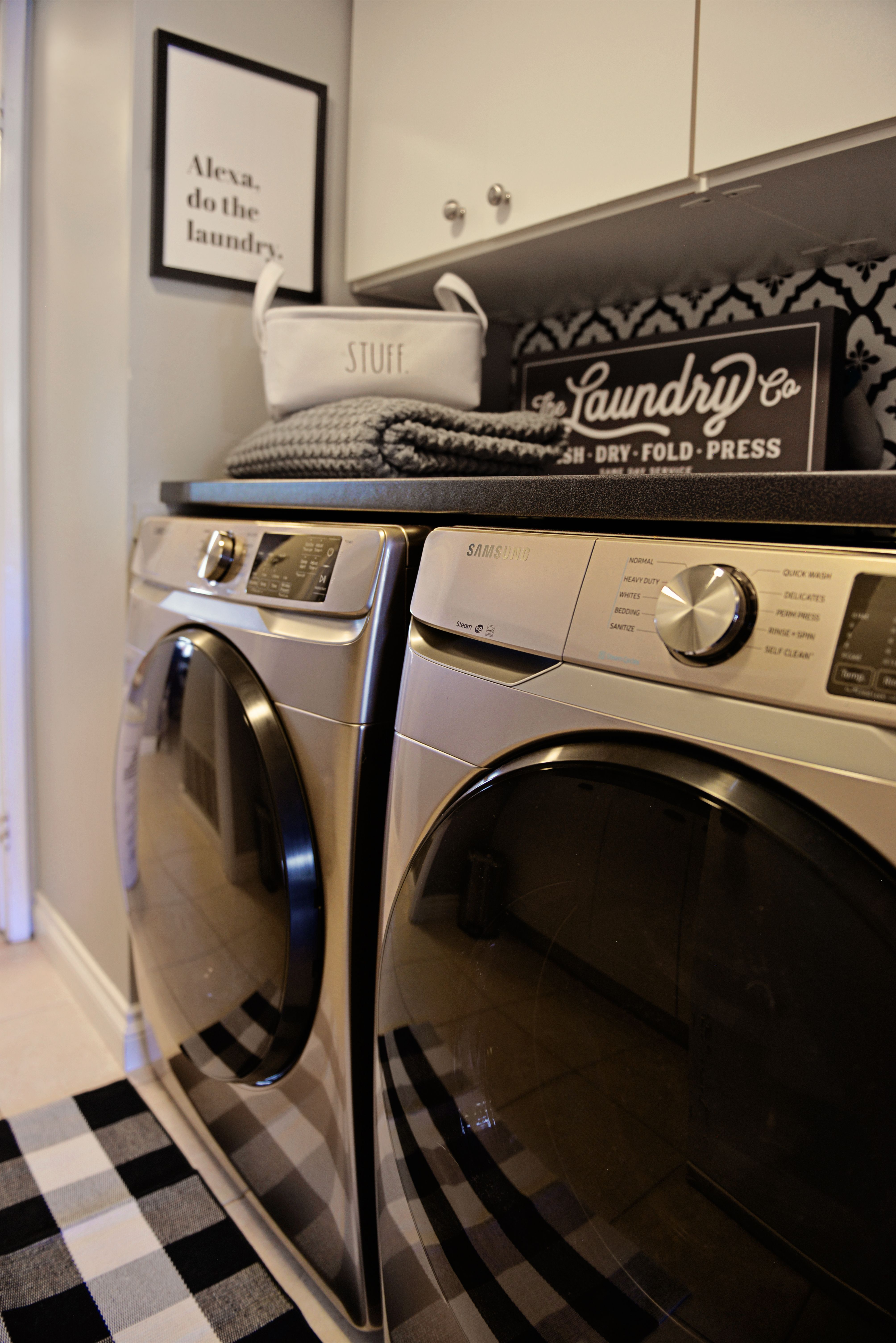 Champagne Washer Dryer Laundry Small Laundry Room