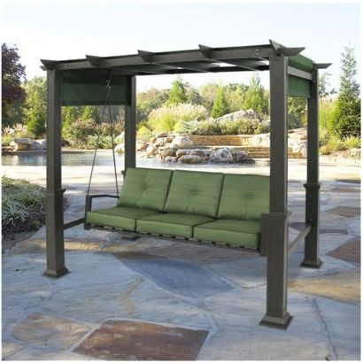 Captivating This Pergola Swing Is Perfect For Lounging Outside With Your Favorite Book.  Its Sturdy Steel