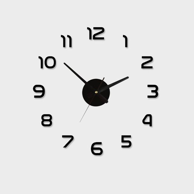 Fair Price Acrylic Best Home Decoration Diy Wall Clock Unique Large Number Stickers Self Adhesive Home Deco Diy Clock Wall Unique Wall Clocks Wall Clock Modern