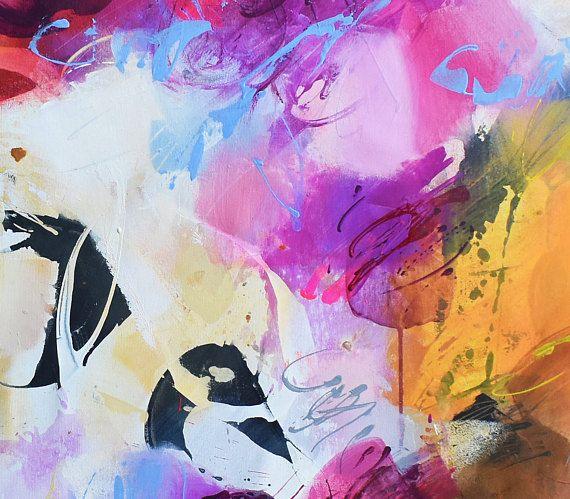 Peinture originale par Gabi Ger Taille  38 51 pouces, La peinture a