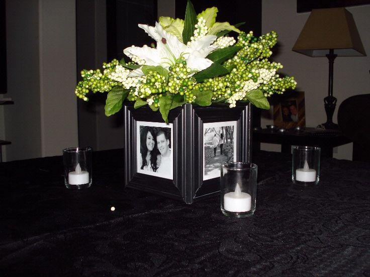 Glue 4 Frames Around A Cube Vase 1 Store Auction Decor Rehearsal Dinner