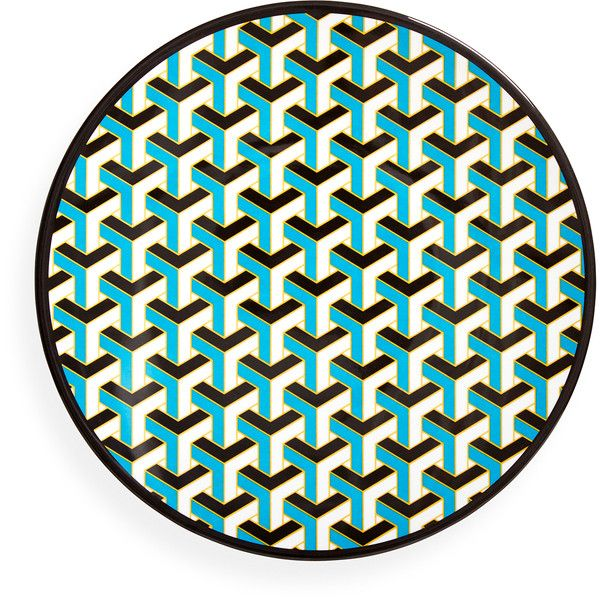 Blue Mykonos Melamine Dinner Plate ($12) ❤ liked on Polyvore featuring home, kitchen & dining, dinnerware, blue melamine dinnerware, blue dinner plates, melamine dinner plates, blue dinnerware and melamine dinnerware
