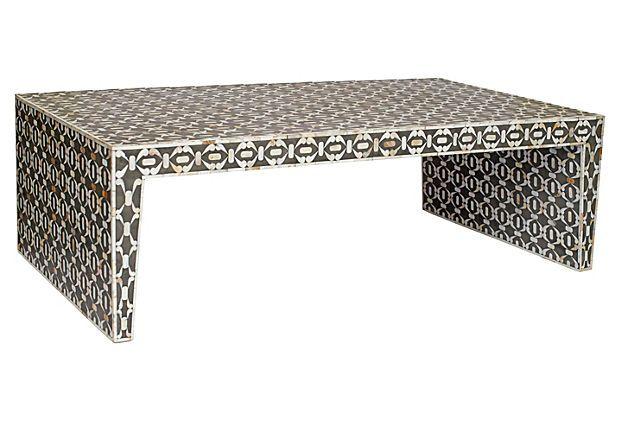 Bone Inlay Coffee Table, Charcoal On OneKingsLane.com