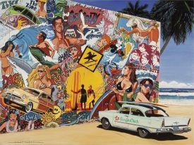 Alain Bertrand, Surf mural, Peinture