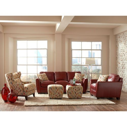 chelsea 5 piece living room set red couch only so nice and a great piece of furniture red. Black Bedroom Furniture Sets. Home Design Ideas