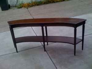 Interesting Curved Sofa Table For Those Couches