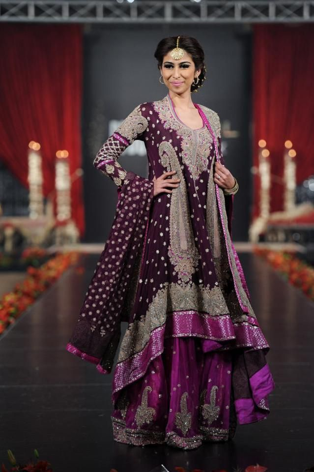 Image Result For Purple Pakistani Wedding Dresses