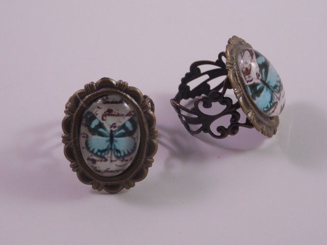 Victorian blue butterfly ring £4.50