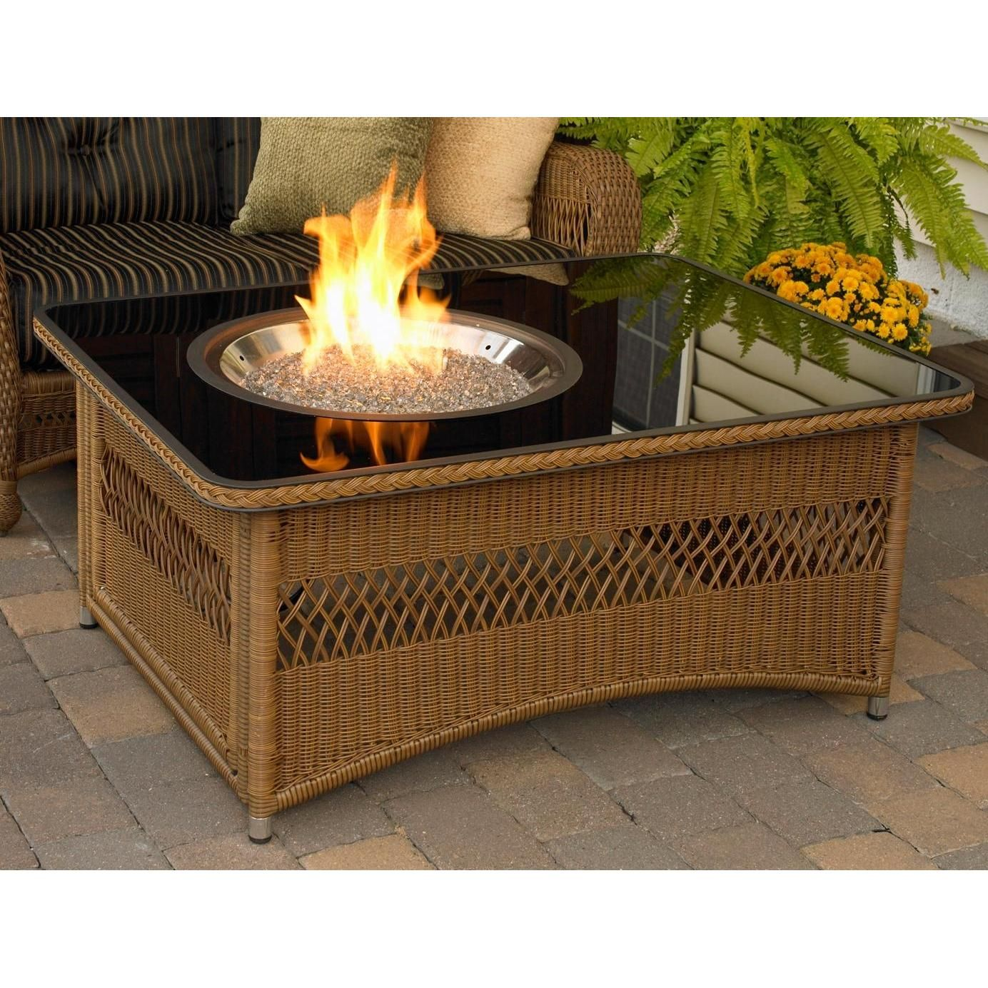 Outdoor greatroom company naples 48 inch natural gas fire pit outdoor greatroom company naples 48 inch natural gas fire pit coffee table with black glass top geotapseo Choice Image