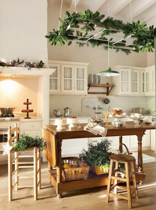 Decorating Kitchen Island As Dining Table Christmas Decorations For