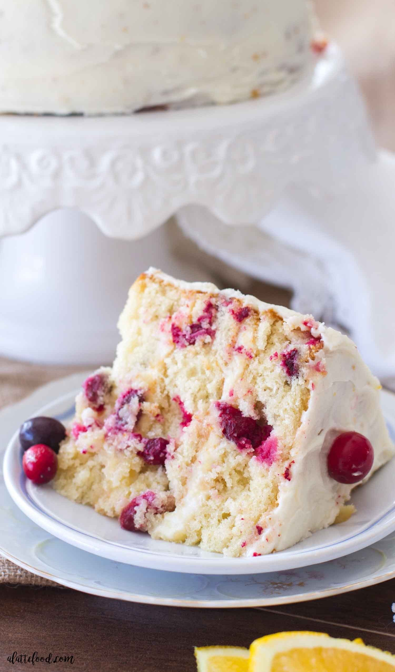 This easy cranberry orange cake is the perfect Christmas