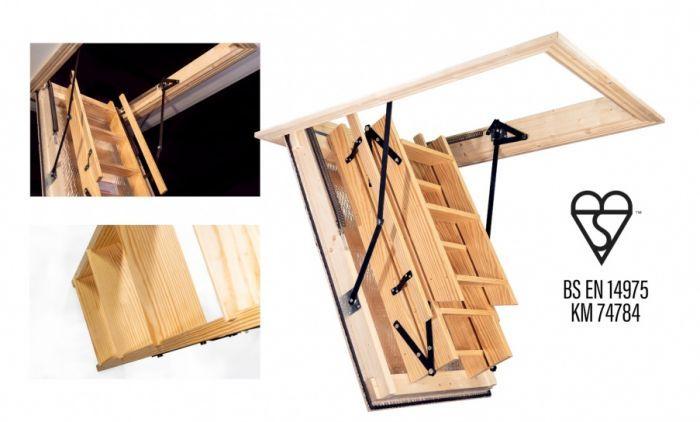 Best Stira Heavy Duty Timber Folding Loft Ladder Loft Ladder 400 x 300