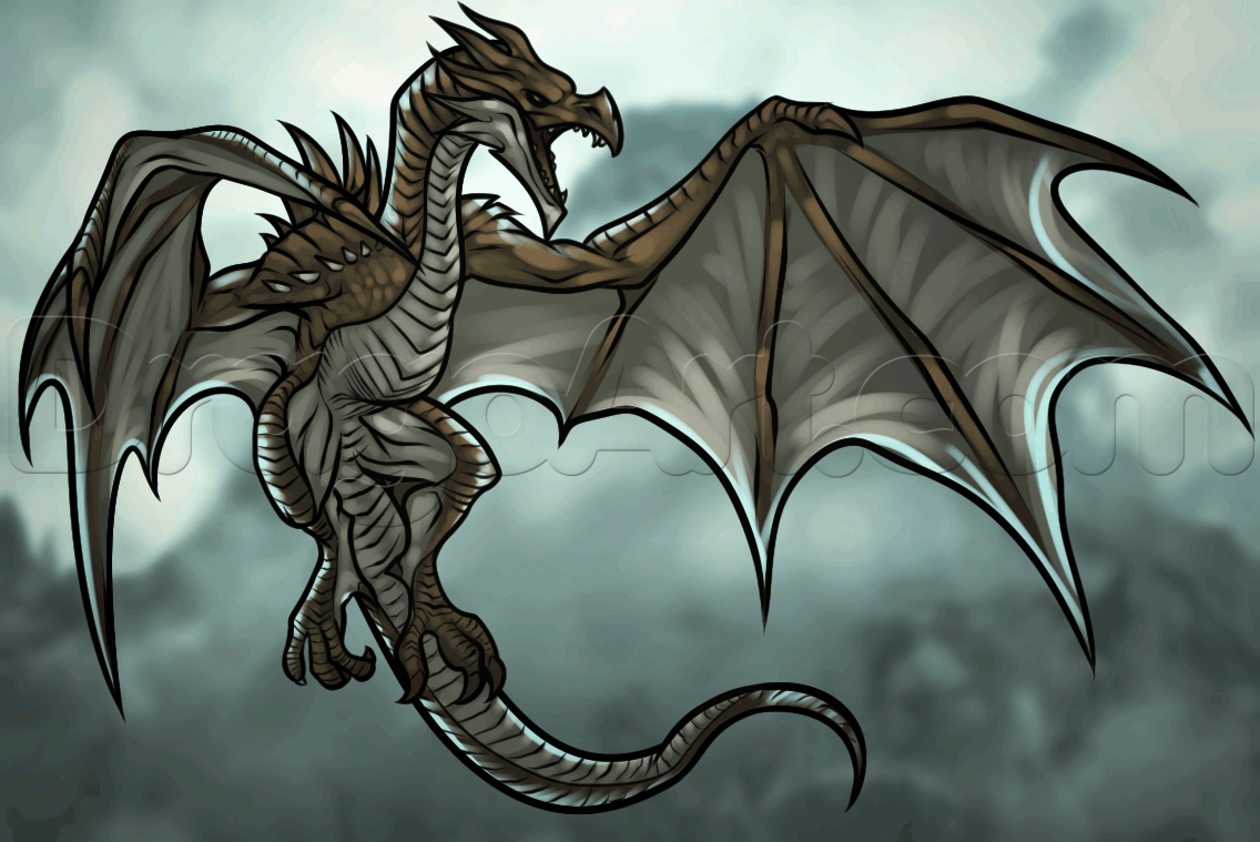 How To Draw A Dragon From Skyrim 1 000000017302 5 Png 1 136 759 Pixels Skyrim Dragon Drawings Skyrim