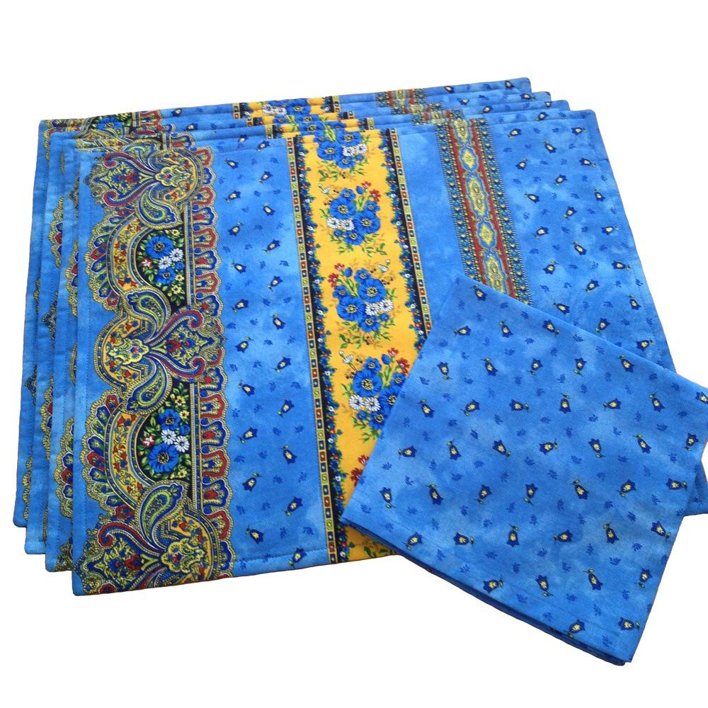 Provence Placemats And Napkins French Table Linens Blue Etsy French Table Linens Blue Placemats Fabric Placemats