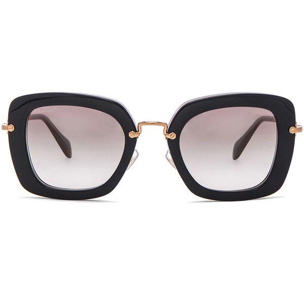 a37ed685d30cc Miu Miu Oversized Square Sunglasses ( 390) ❤ liked on Polyvore ...