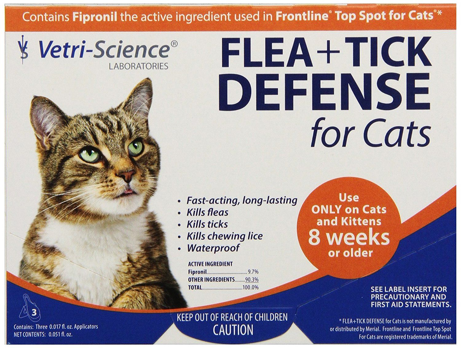 Vetri Science 3 Dose Flea And Tick Defense For Cats To View