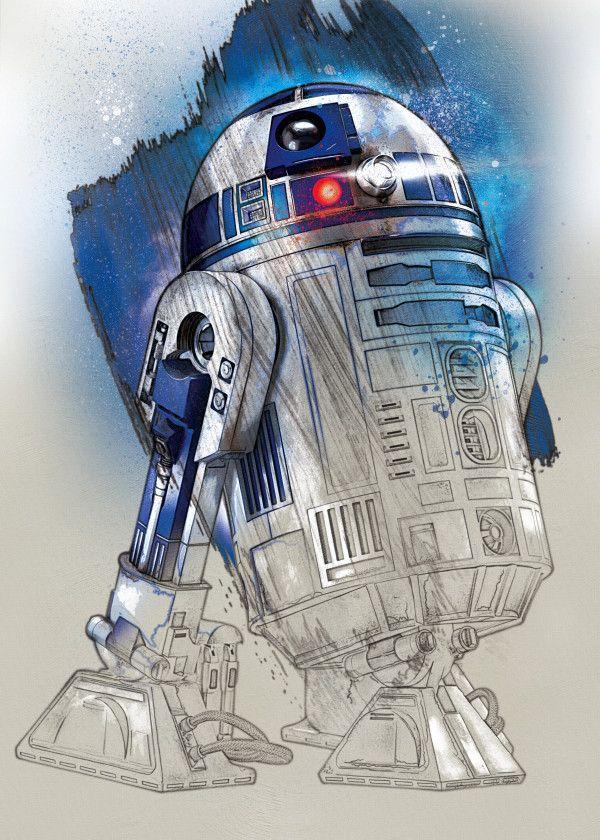 "Official Star Wars The Last Jedi Character Portraits R2-D2 #Displate explore Pinterest""> #Displate artwork… | Displate thumbnail"