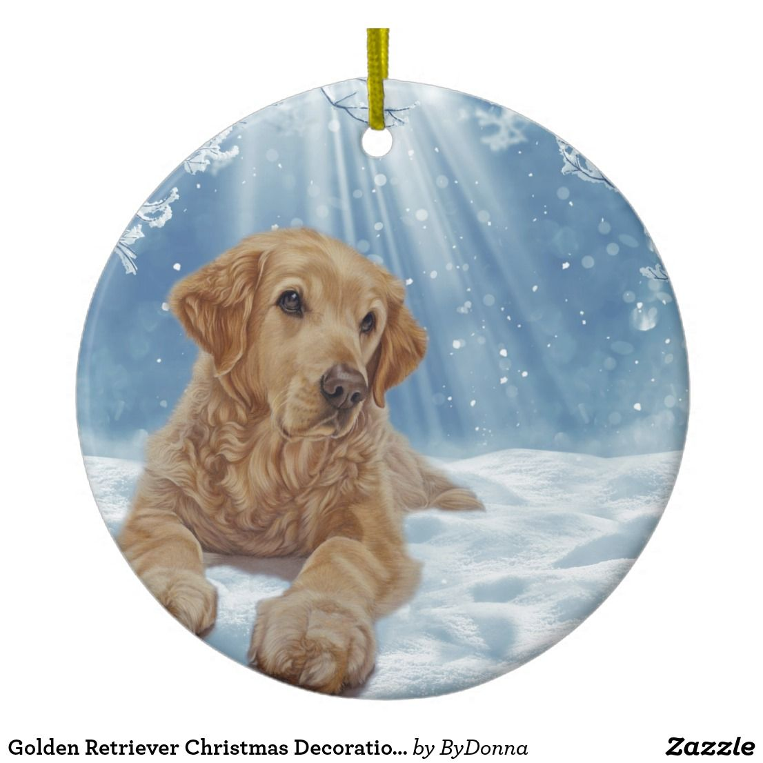 Golden Retriever Christmas Decoration Ornament Golden Retriever Christmas Golden Retriever Golden Retriever Art