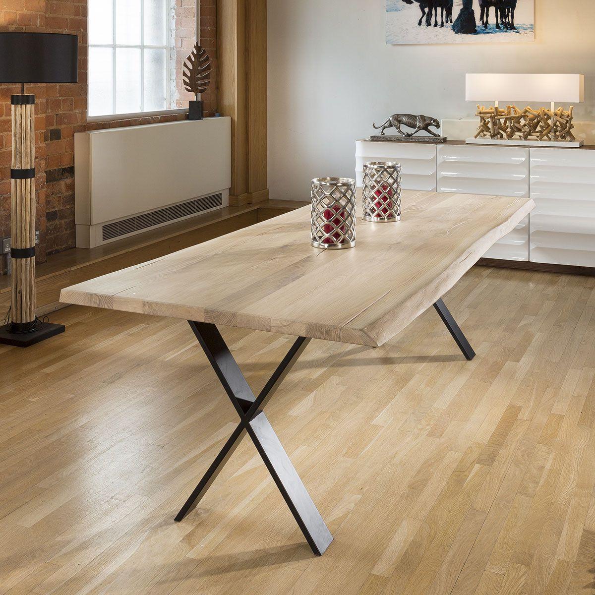 Venus Solid Oak Custom Made Dining Table Colour Choices