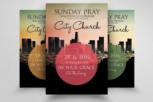 The City Revival Church Flyer Flyer Vector Graphics Design Flyer Template