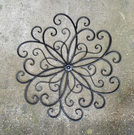 Large Metal Wall Art / Large Wrought Iron Wall Decor /
