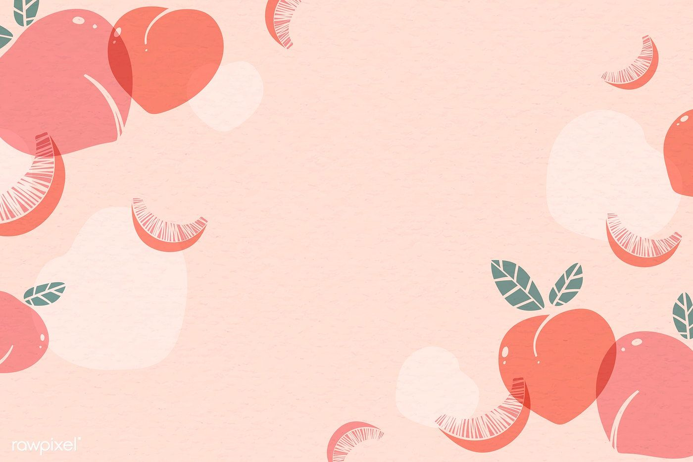 Download Premium Vector Of Peach Patterned Background With Design Space Artsy Background Peach Wallpaper Peach Background