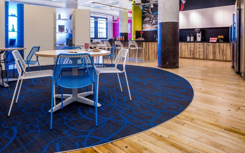 Firm: Studio Hive, Inc. Location: Minneapolis, MN Products: Pop Icon Carpet Tile, Super Fresh Tile, Amused Carpet Tile, Enthralled Carpet Tile