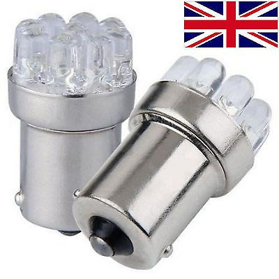 Details About 2 X 12v Ba15s 13 Led White Sidelight Side Indicator Parking Light Bulb P21w 1156 Light Bulb White Lead Bulb