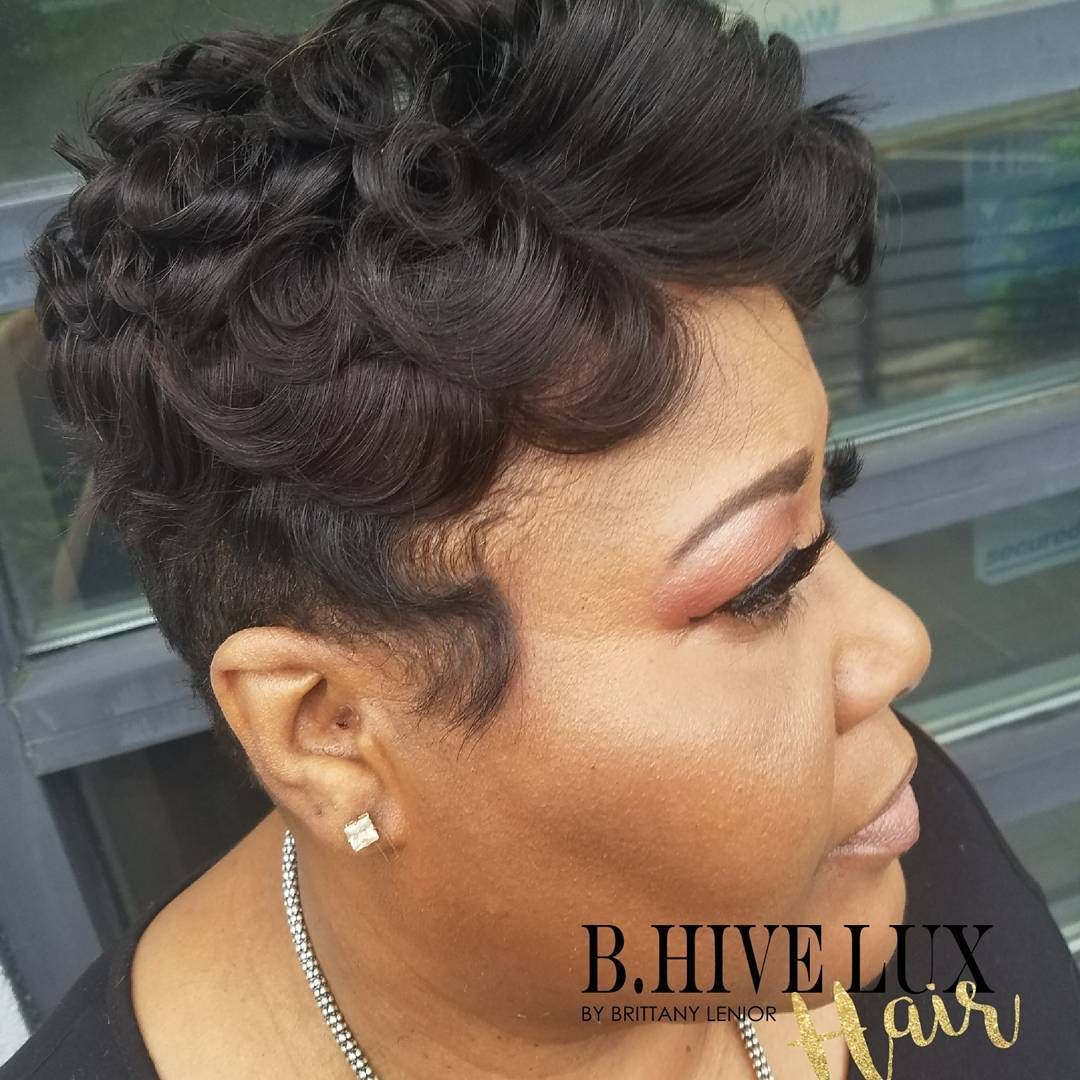 Short hair partial sewin with bluxuriouscollection brazilian loose