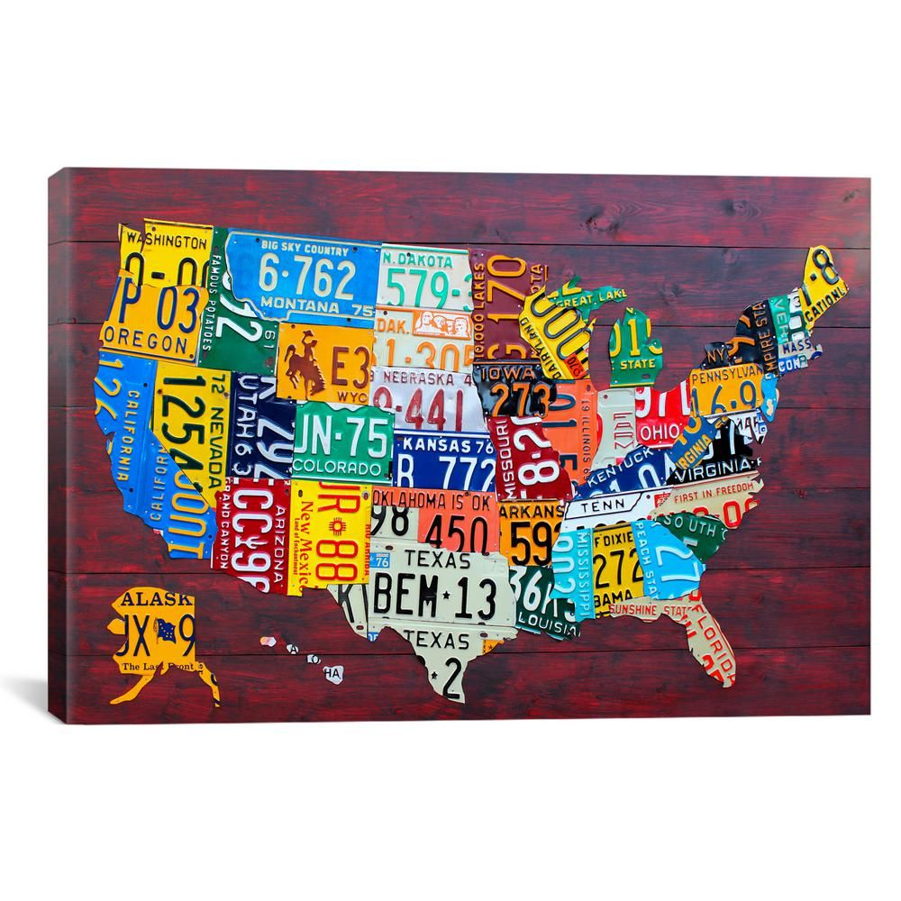 iCanvas USA Recycled License Plate Map VII, Multi in 2019 ... on basketball usa map, state usa map, color usa map, driving usa map, art usa map, paint usa map, time usa map, list 50 states and capitals map, license plate world map, license plate map art, reverse usa map, license plates for each state, motorcycle usa map, flag usa map, decals usa map, golf usa map, baseball usa map, map usa map, leapfrog interactive united states map, watercolor usa map,