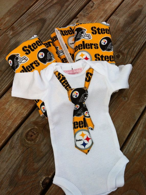 Steelers Baby Clothes Unique Steelers Baby Burp Rags Baby Football Set STEELERS BODYSUIT All