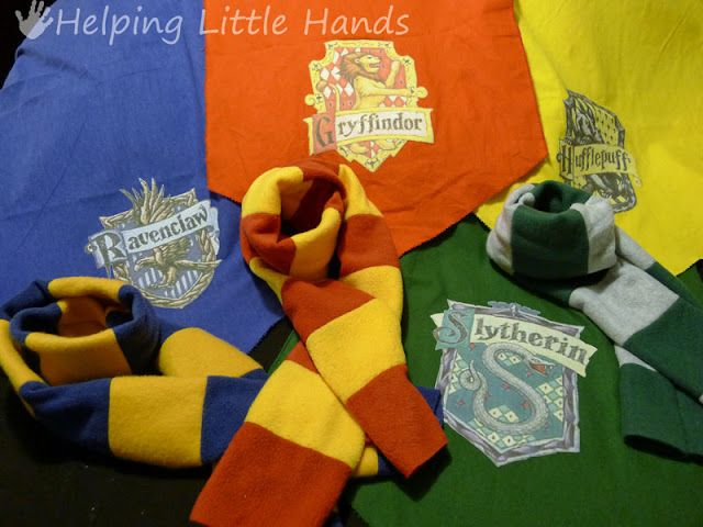 Pieces by Polly: Tutorial: Easy Harry Potter (Hogwarts) House Scarves