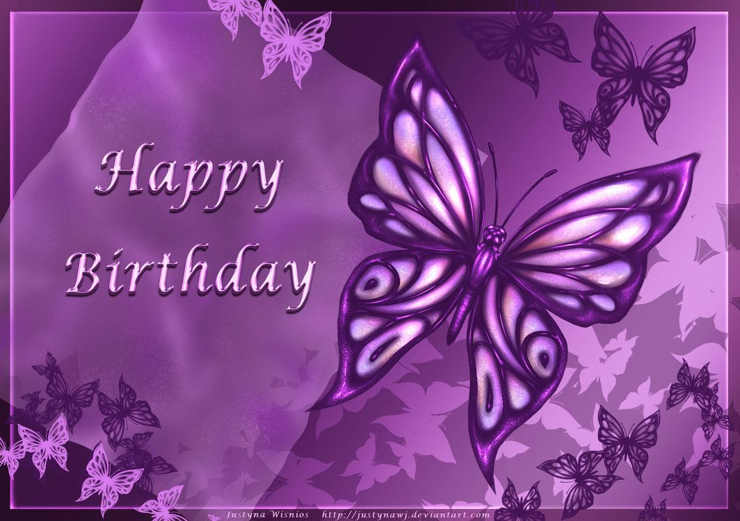Happy Birthday Background Wallpaper Purple Happy Birthday Purple