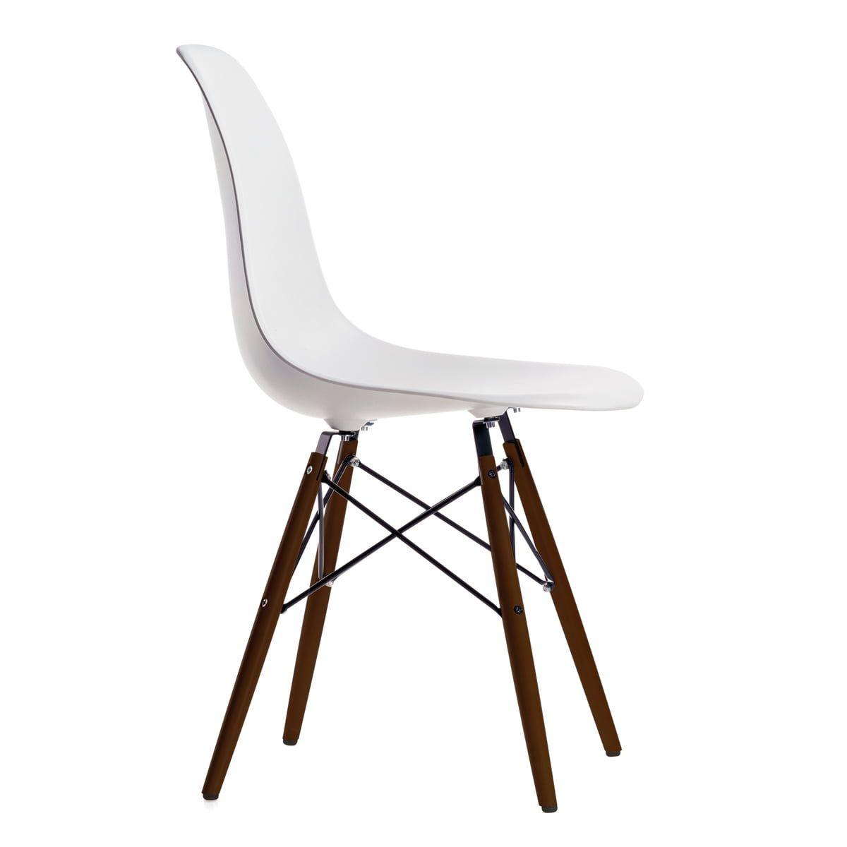 Vitra Eames Plastic Side Chair Dsw H 43 Cm Ahorn Dunkel Weiss Filzgleiter Schwarz Moebel Suchmaschine Ladendirekt De Eames Beistellstuhl Stuhle