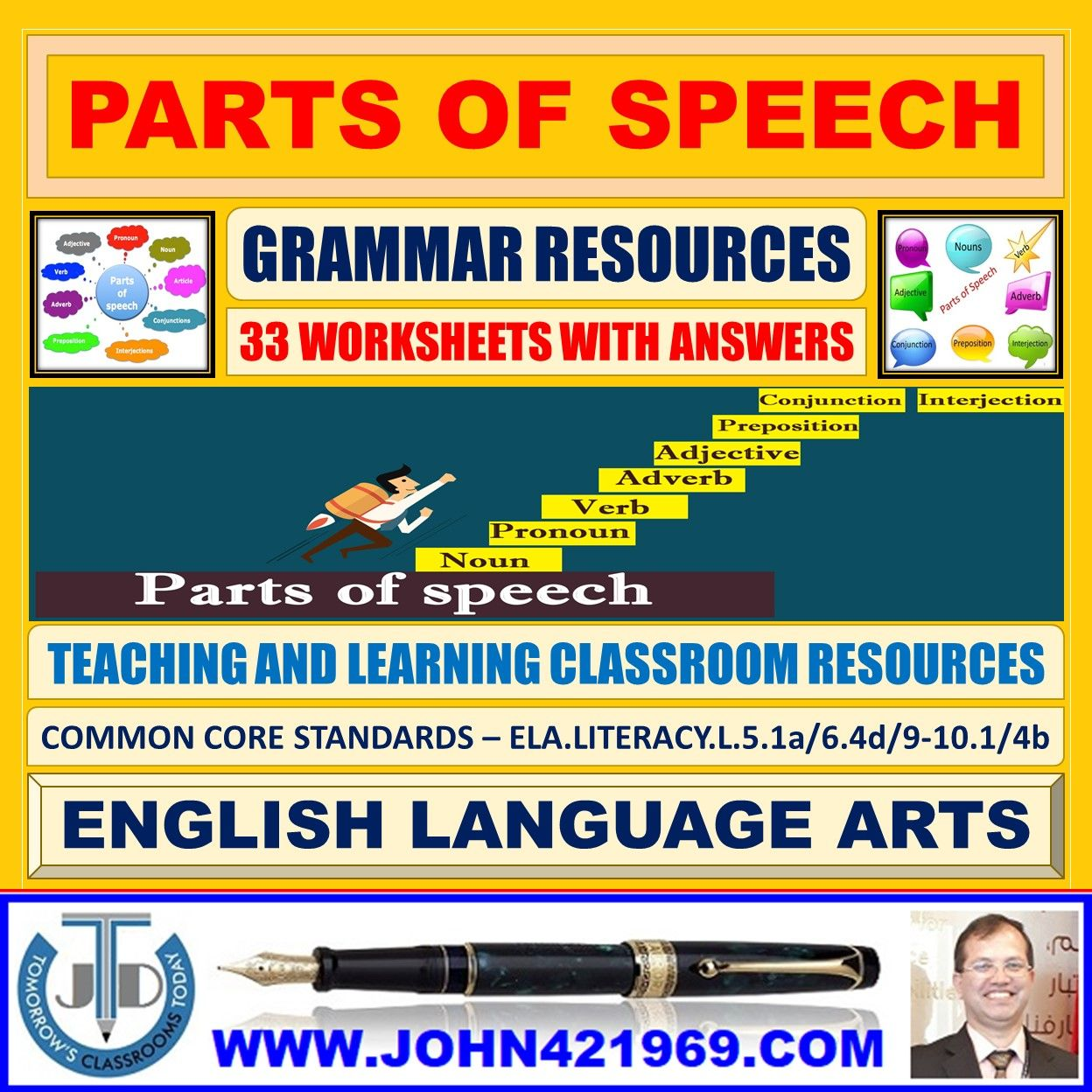 Parts Of Speech Worksheets With Answers In