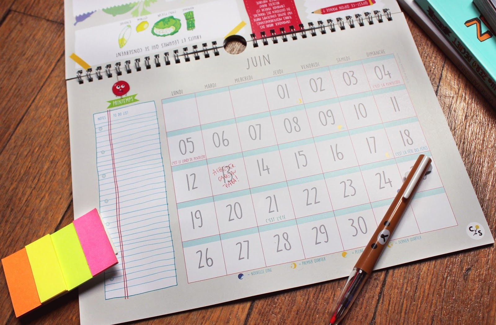 le calendrier illustr u00e9 2017 des fruits et l u00e9gumes de