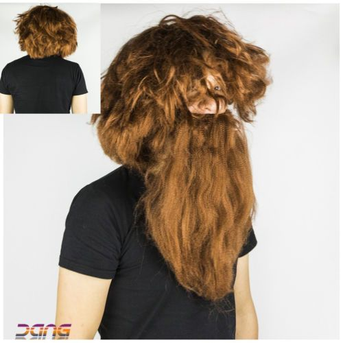 Halloween mens adult #caveman brown wig and #beard costume fancy dress #accessori,  View more on the LINK: http://www.zeppy.io/product/gb/2/172374590515/