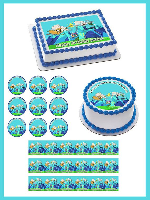 Adventure Time Machines Edible Cake and by TheBestCakeToppers