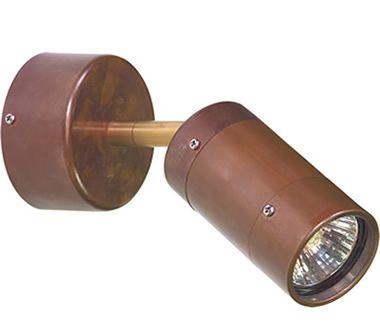 comma single adjustable exterior wall light copper exterior