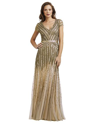 Great Womenu0027s Clothing | Formal/Evening | Sequin Cap Sleeved Gown | Lord And  Taylor