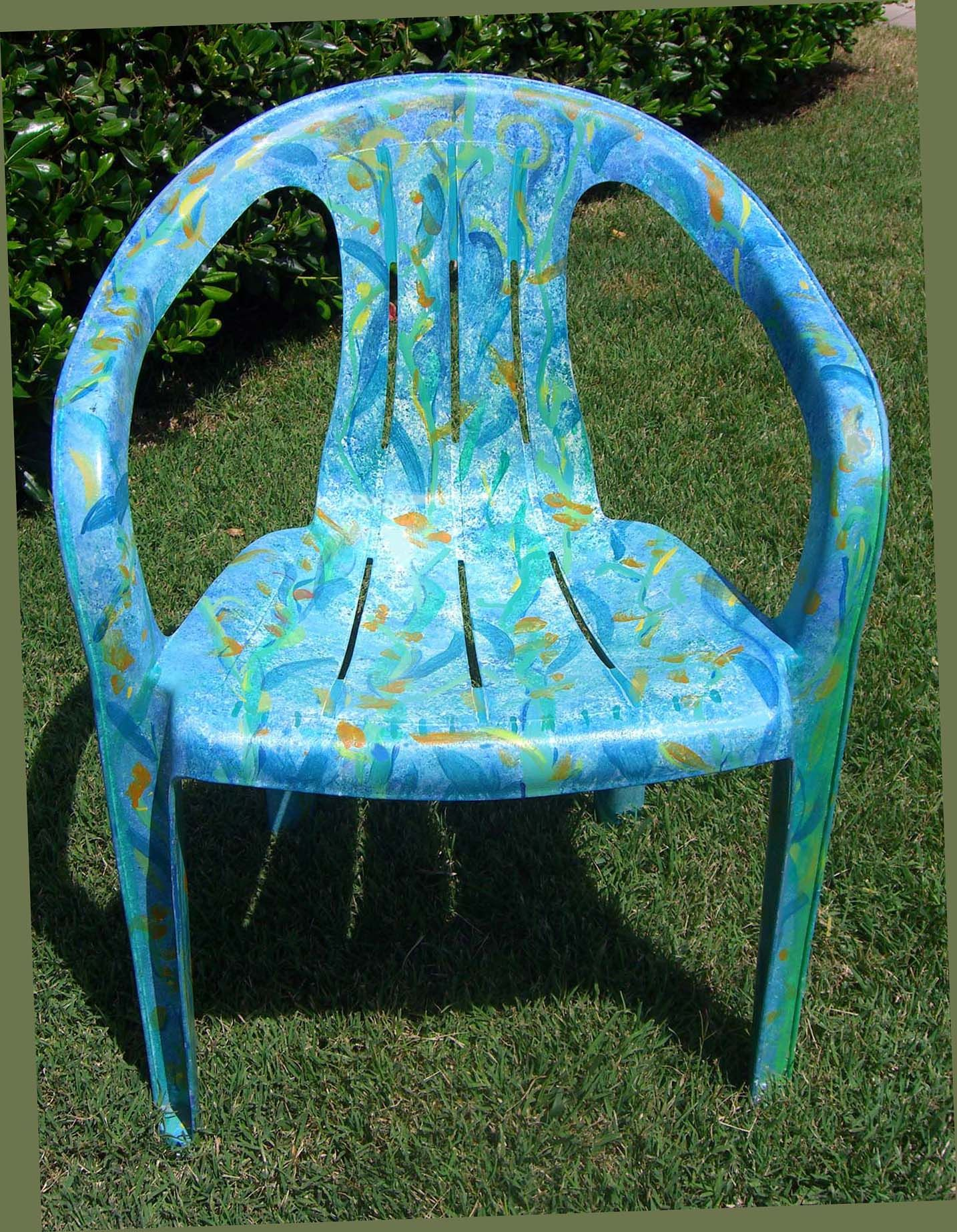 How To Paint Plastic Chairs Rocking Glider Chair For Nursery Canada Painted Resin At Bravo School Of Art San Diego