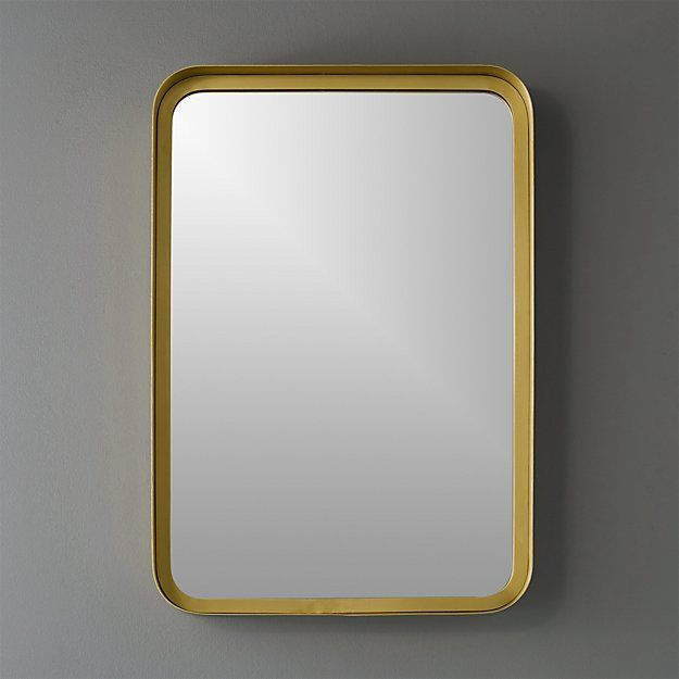 "Bathroom Mirrors For Small Spaces 16""x24.5"" croft brass wall mirror 