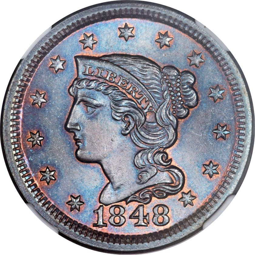 1848 1c Q Ms67 Brown Ngc N 2 High R 1 Our Eac Grade Ms63 Coin Collecting Rare Coins Old Coins
