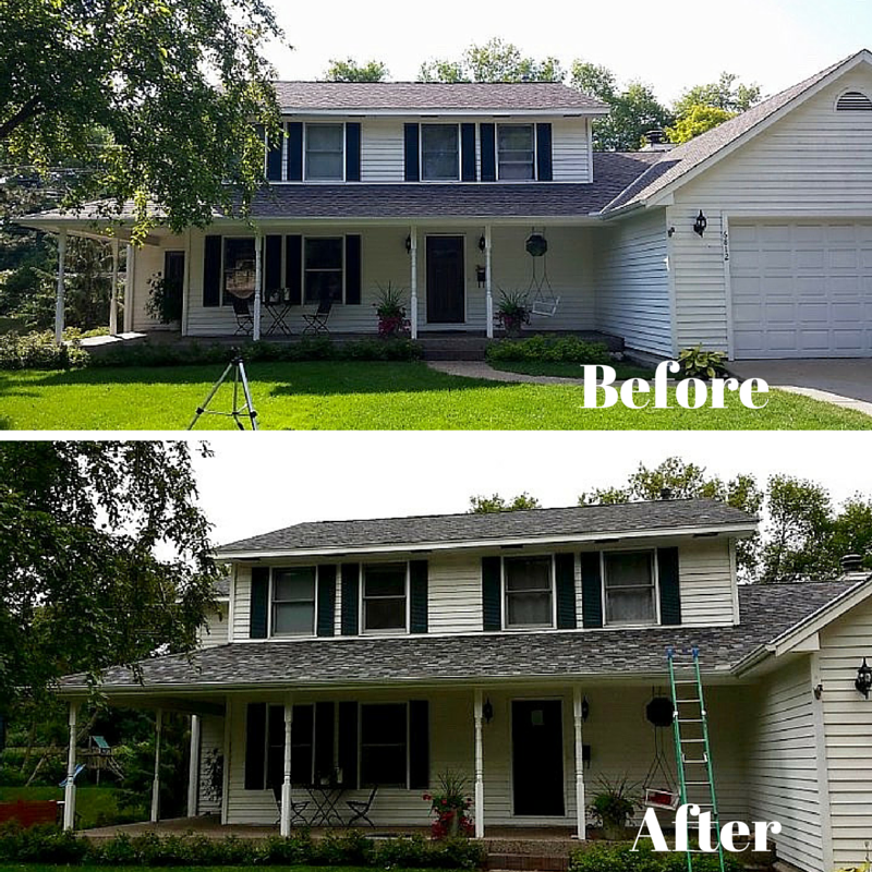 The Quintessential Suburban Home Gets Modernized With Architectural Shingles For New Roofing Architectural Shingles House Styles Installing Siding